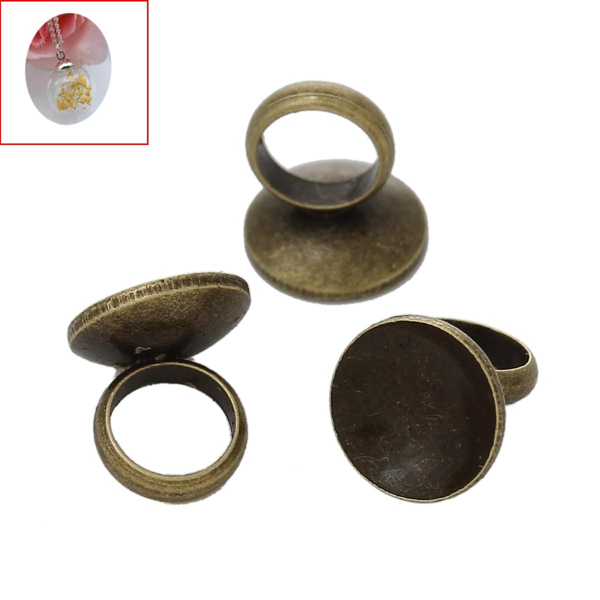 8 estaciones conector de tapa de cobre para burbuja cubierta Colgantes con  frascos del lazo DIY bronce antiguo 6.5mm x 6 MM f9467bd4e3e2