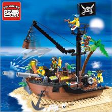 Pirate Ship Scrap Dock 178Pcs Building Blocks Educational Jigsaw DIY Construction Bricks Compatible All цена
