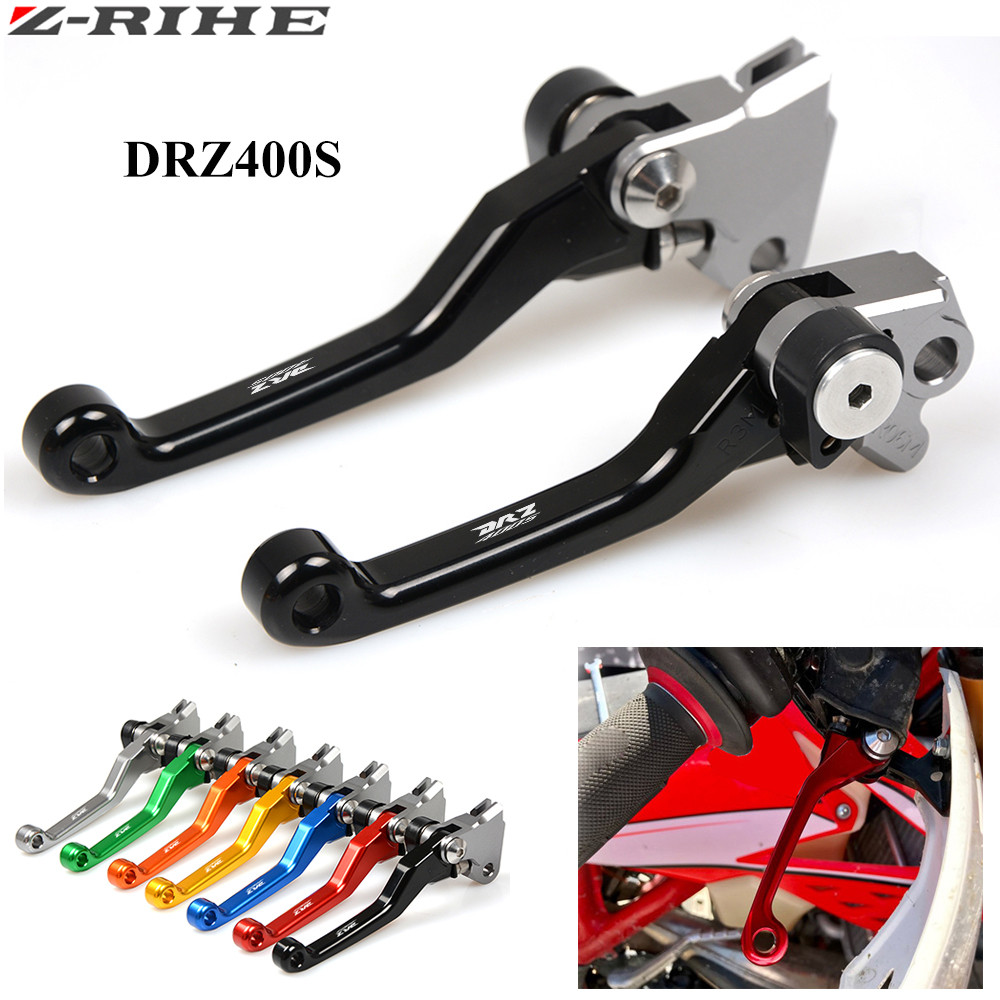 CNC Pivot Clutch Brake Levers For Suzuki DRZ400S DRZ400SM DRZ400 2000-2015 DRZ400S DRZ 400 S Enduro Supermotard Dirt Bike
