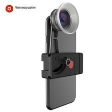 Poneographer 모바일 렌즈 외부 고화질 SLR 미러 세트 범용 핸드폰 렌즈 매크로 렌즈 광각 렌즈