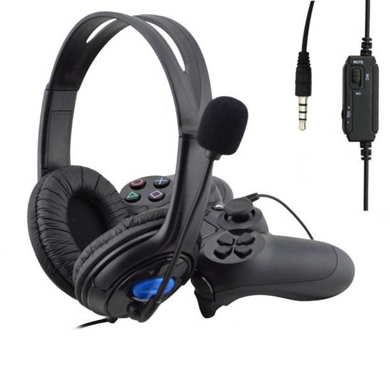 Gamer Headset Headphones for PC Computer 3.5mm Jack Handsfree Headset with Mic Microphone Wired for PS4 Sony PlayStation 4 PS4