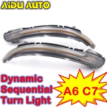 LED Flowing Rear View MIRROR Dynamic Sequential Turn Signal Light For Audi A6 C7 led flowing rear view dynamic sequential mirror turn water signal light for audi a3 a4 b8 b8 5 a5 8w a6 c7 rs6 s6 4g c7 5 q5 q7