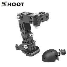 Регулируемое крепление для камеры gopro hero 8 7 5 xiaomi yi 4k sjcam sj4000 sj7, аксессуары для крепления на шлем