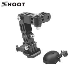 Atirar ajuste base de montagem para gopro hero 9 8 7 5 xiaomi yi 4k sjcam sj4000 ação câmera tripé capacete cinto montagem acessório