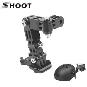 SHOOT Adjustment Base Mount for gopro hero 8 7 5 xiaomi yi 4k sjcam sj4000 sj7 Action Camera Tripod Helmet Belt Mount Accessory(China)