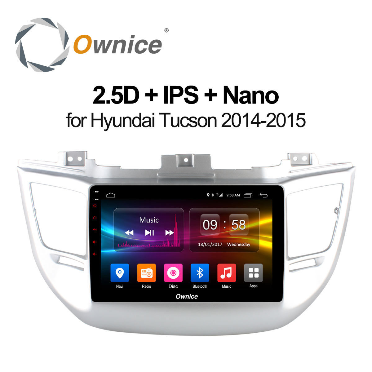 Ownice C500+ 9 Car Radio Player for Hyundai TUCSON 2014 2015 Android 8 Core gps navi 2GB RAM 32GB ROM support 4G LTE carplay 10 1 tda7851 android 7 1 for hyundai ix35 tucson 2015 2016 2017 2gb ram car dvd player gps map rds radio wifi 4g bluetooth 4 0