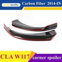 W117 передний бампер спойлер углеродного волокна УГЛУ СПОЙЛЕР чашки Splitter ПОДХОДИТ MERCEDES cla 200 CLA180 CLA250 CLA45 AMG 2014 2015