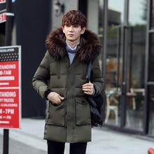 Winter Jacket Men Coats Thick Warm Casual Down Coat Winter Windproof Hooded Outwear Men Parkas Fur