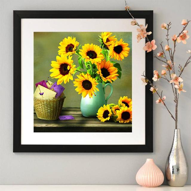 Diamond Painting Embroidery Mosaic Picture Sunflower Vase Bear Cat