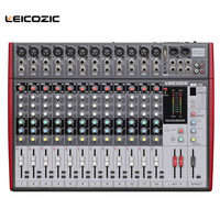 Leicozic 12 channel Professional audio mixer BX 12 audio mixing console digital mixing console effects processor USB DJ Mixer