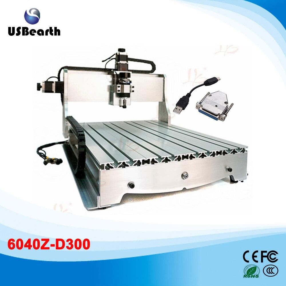 4 axis usb cnc 6040 woodworking machinery 300w drilling milling machine to eu free custom duty 3 Axis Desktop CNC 6040 300W  PCB Milling Machine with USB interface, Russia no custom duty