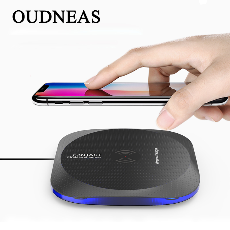 Oudneas QI Беспроводной Зарядное устройство Стандартный для Samsung <font><b>Galaxy</b></font> <font><b>S5</b></font> S6 S7 S8 Универсальный Беспроводной зарядного устройства для iphone 8 X