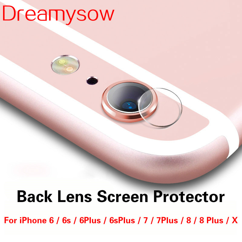 Dreamysow HD Anti-Scratch 9H Len Film Tempered Glass For iPhone 6 6s 7 8 Plus X 10 Rear Camera Cover Back Lens Screen Protector