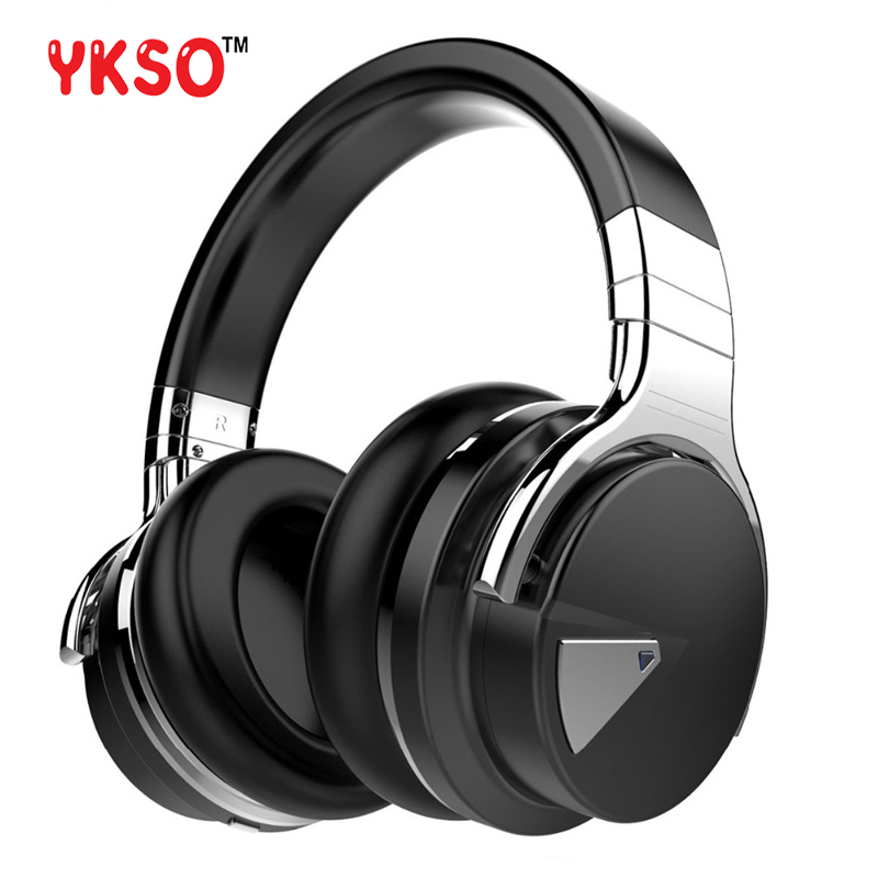 YKSO E7 Headphone wireless Bluetooth with mic headset Portable audio and video Active Noise Cancelling headphone mee audio connect bluetooth wireless hifi hd headphone system t1h1 for tv bluetooth wireless audio transmitter and headset