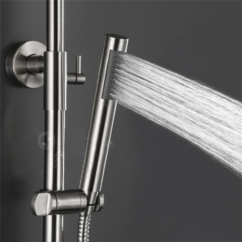 LeKing Stainless Steel Handseld Shower Head Bathroom Faucet ...