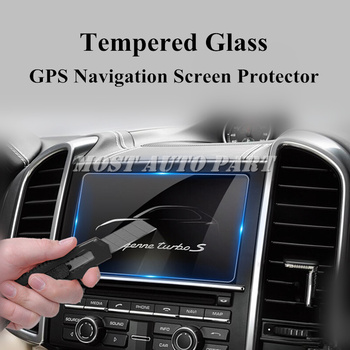 Tempered Glass GPS Navigation Screen Protector For Porsche Cayenne 2011-2015 Car accesories interior Car decoration image