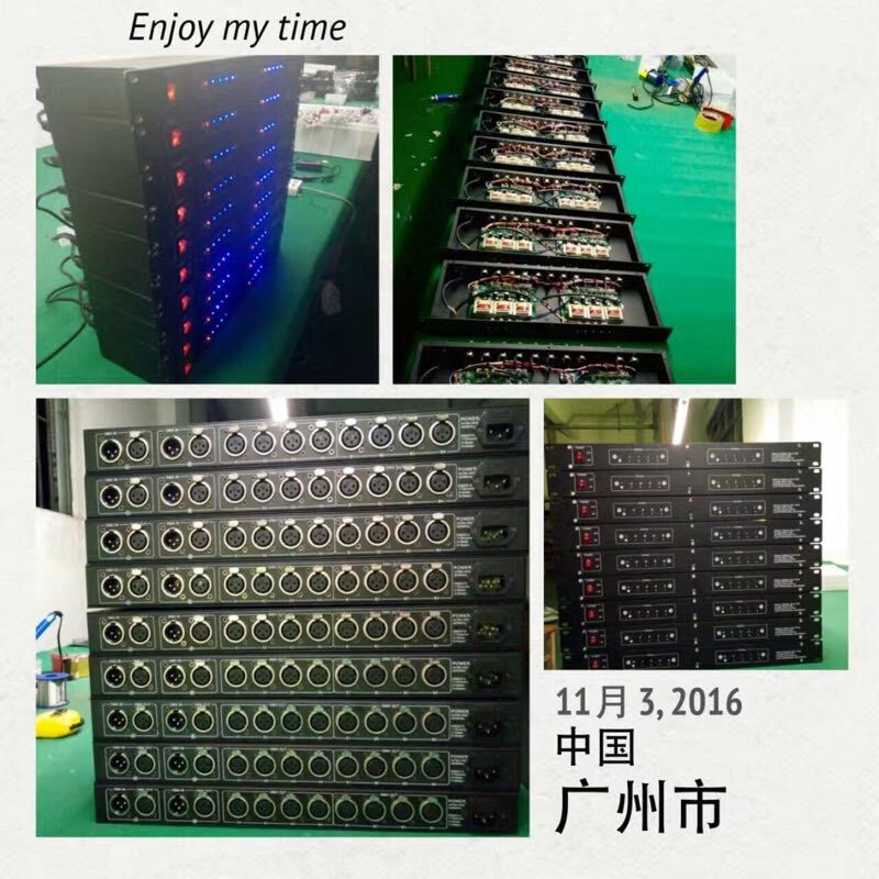 Updated Rasha DMX 8 Way(or DMX 4)Splitter DMX512 Distribution Amplifier RS 485 Light DMX Signal Splitter For Stage Lighting