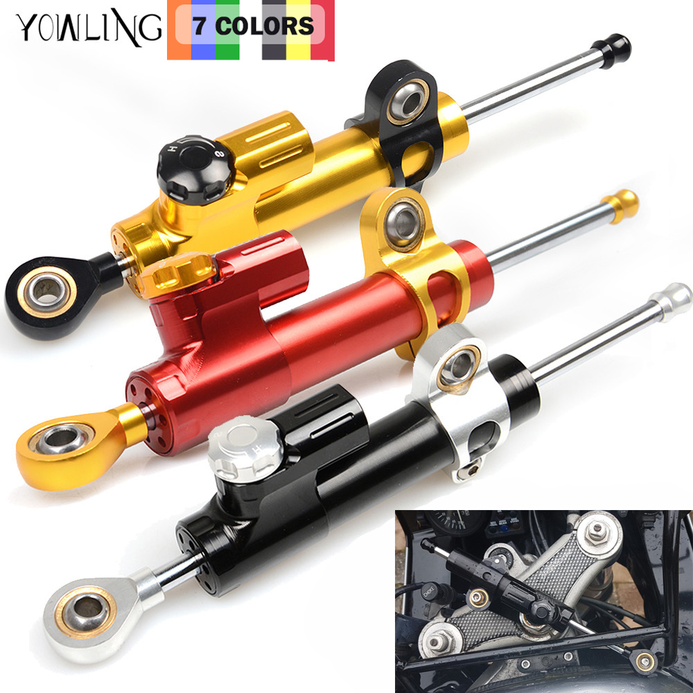 for moto CNC Damper Steering StabilizerLinear Reversed Safety Control Over for ktm duke 200 body mt-09 harley sportster 883 hond motorcycles adjustable steering stabilizer damper for kawasaki z800 z1000 yamaha tmax500 530 ktm duke 250 990 superduke 690 duke