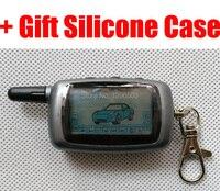 A6 2-way LCD Controle Remoto Caso Chave FOB + Gift para a Segurança Do Veículo em Dois sentidos Starline Sistema de Alarme de Carro Russa A6