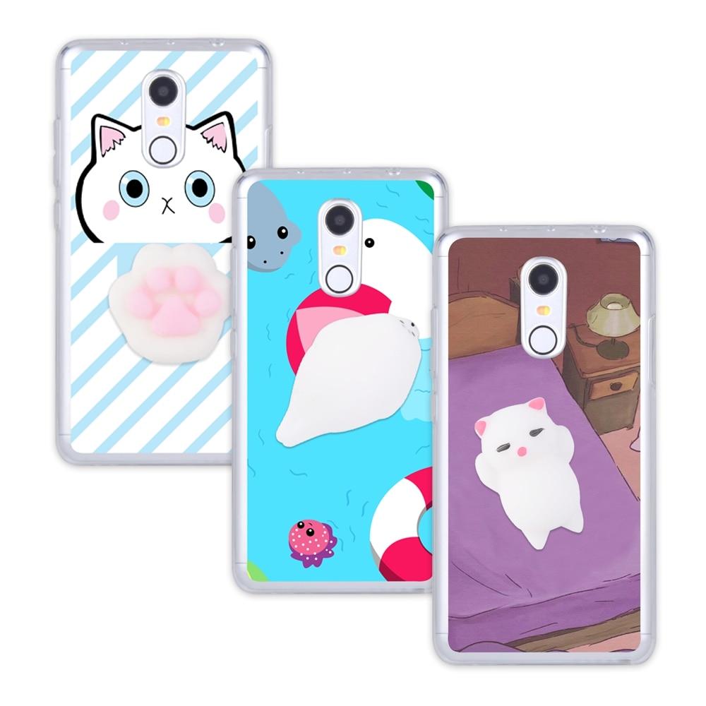 Squishy 3d cat phone case - Squishy 3d Cat Phone Case For Xiaomi Redmi 3 3s 4 Pro Prime 4a 4x Note