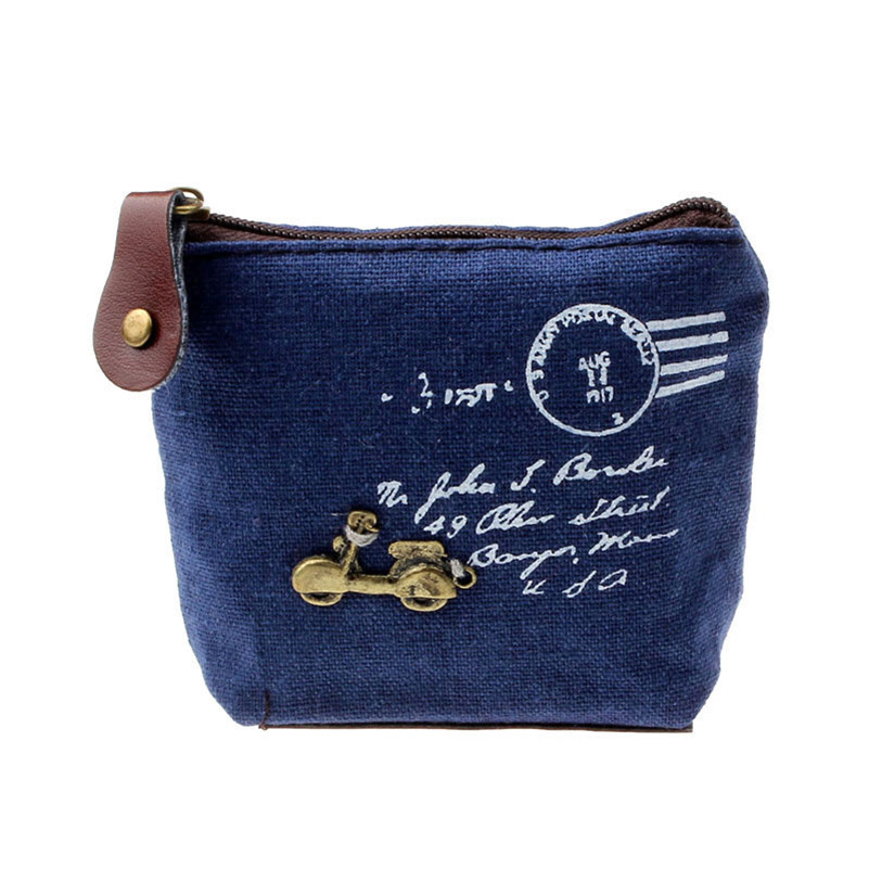 Women Retro Coin Bag Girl Canvas Coin Purses Wallet Card Holder Gift Eiffel Tower Women Linen Small Wallet Zipper Keys bag 2017