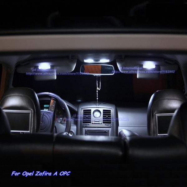 Car Interior LED lights Lamps kit in Xenon white for Opel Zafira A OPC Parking LED Dome Reading Glove box Trunk Bulbs wireless control rgb color interior underdash foot accent ambient light for opel zafira a b c for chevrolet zafira tourer