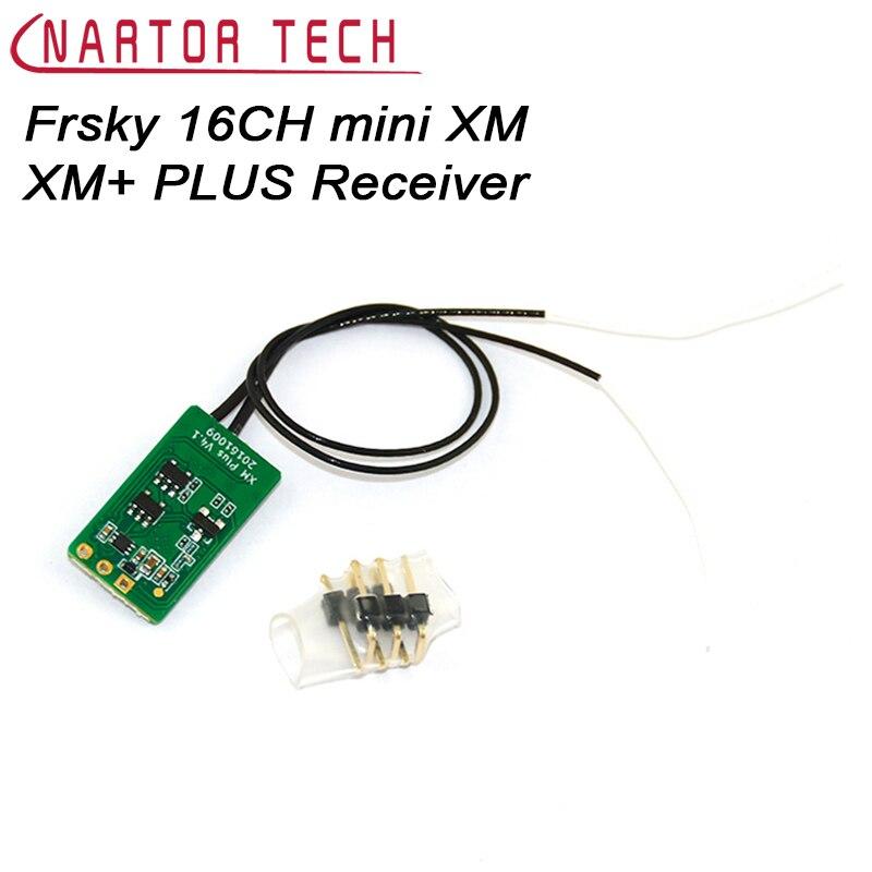 1 PCS Original Frsky 16CH mini XM XM + PLUS Récepteur pour Intérieur FPV Petit Quadcopter PWM SBUS