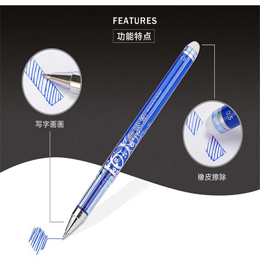 Yeni 1 adet silinebilir jel kalemler mavi siyah kalem kartuş satış hediyeler butik öğrenci kırtasiye ofis kalemi yazma