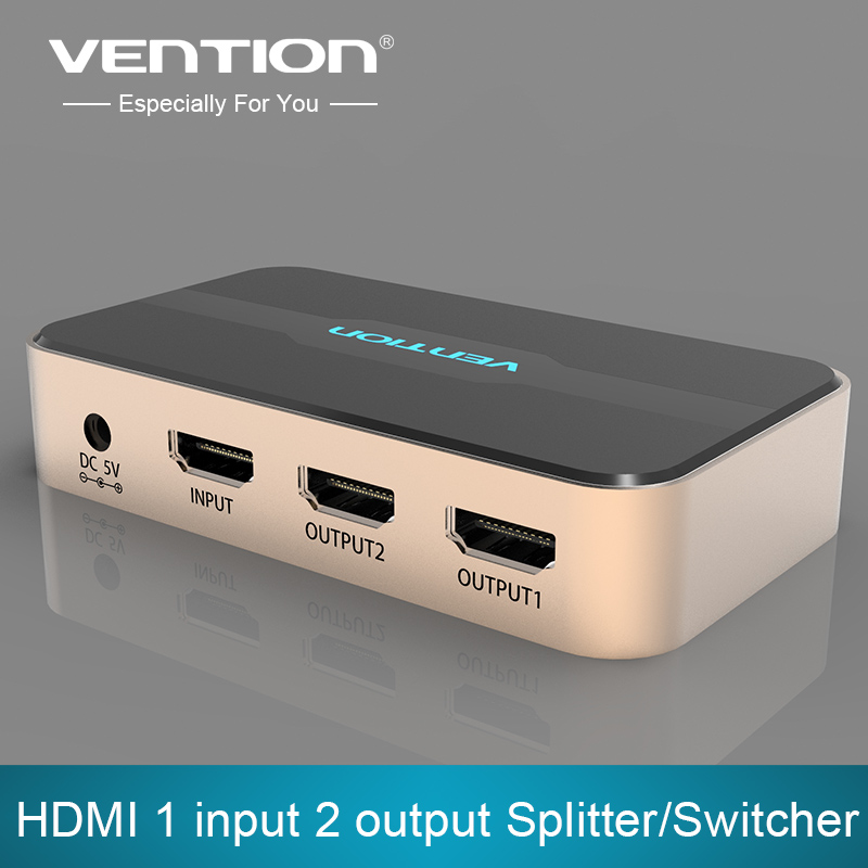 Vention HDMI Splitter 1 in 2 out HDMI Switch HDMI Switcher 1x2 HDMI 1 Input 2 Output Splitter for XBOX 360 PC DV DVD HDTV 1080P брюки для девочки acoola nyx цвет темно синий 20210160127 размер 158