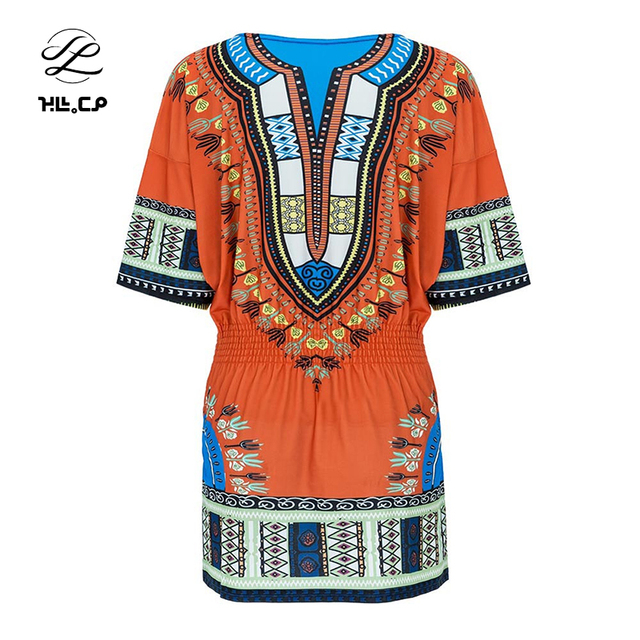 db5761c37f5 CP New Women Summer Dress 2017 Fashion Casual Deep V-Neck Traditional  African Print Party Bandage Dress Vestidos feminino