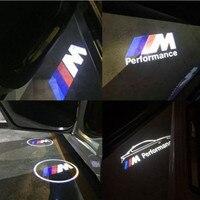 JURUS 2pcs For BMW Light Car Door Welcome Logo Emblem Light 3 5 6 7 Series