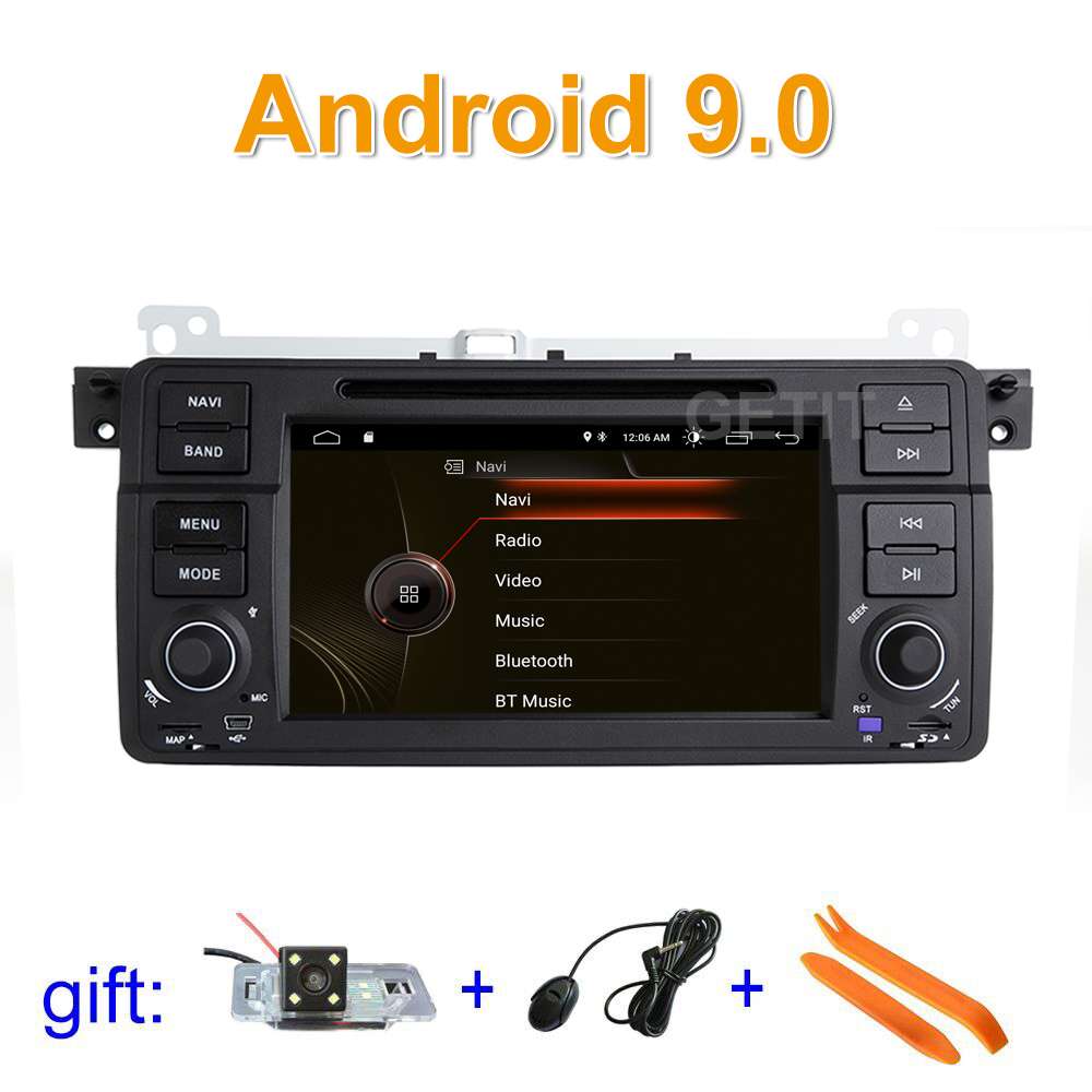 DSP IPS Android 9 Car DVD Stereo Player Radio GPS for BMW E46