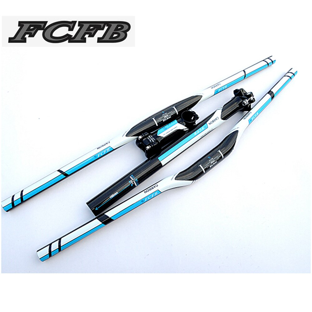 Specials! FCFB FW blue  carbon fibre mountain bike carbon  handlebar set  = Stem seatpost  handlebar seat  free shipping specials original cycling king c k red white carbon fiber bike handlebar bicycle stem carbon seatpost tube one mountain bar