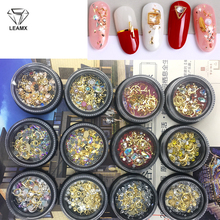 LEAMX Mix Style/Box 3D Nails Art Accessories Mini Beads Pearl Rhinestones Rivets Nail Decorations Stud Fingertips Decor L467