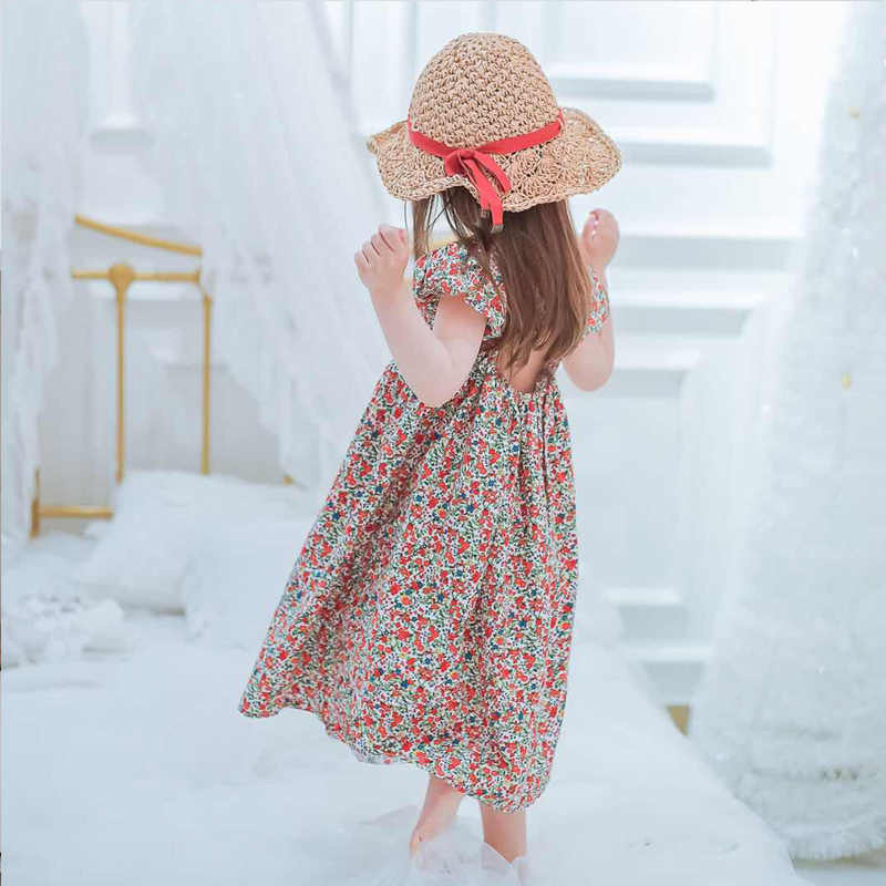 Girls Floral Dress Summer Princess Clothing Flower Costume Kids Baby Child Party Holiday Beautiful Dresses For Girl Clothes 4y