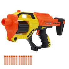2019 New Arrival Revolver Barrel Manual Soft Bullet Gun Suit for Nerf Bullets Rifle Dart Blaster long Range Toy Gun for Children(China)