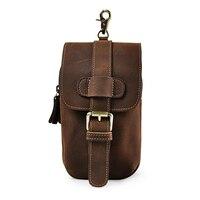 Retro Crazy Horse Genuine Leather Waist Bag Men S Multi Function Shoulder Bag Fanny Belt Sling