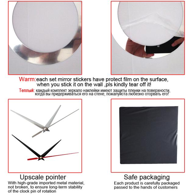2017 new wall clock home decor acrylic mirror wall stickers diyclocksmodern designdirect selling big watches