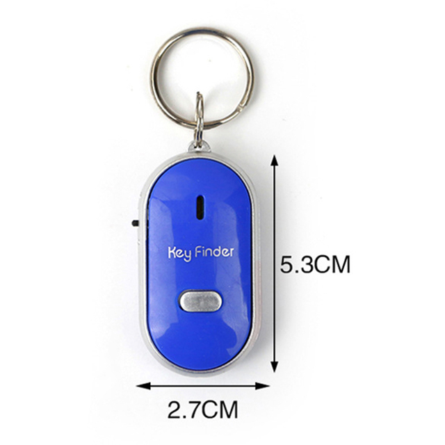 Whistle Key Finder Flashing Beeping Remote Control Lost Keyfinder Locator Keyring with LED Torch 5