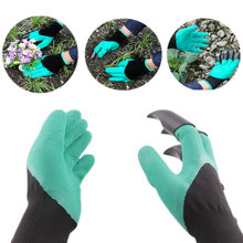 2017 hot rubber garden gloves safety gardening gloves for soil flip man moman protection hand garden tools supplies products(China)