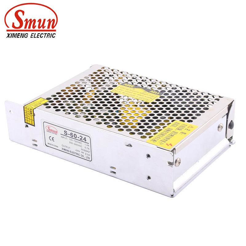SMUN S-60-24 110/220VAC to <font><b>24VDC</b></font> 2.5A 60W Switch Power Supply <font><b>Adapter</b></font> Converter image