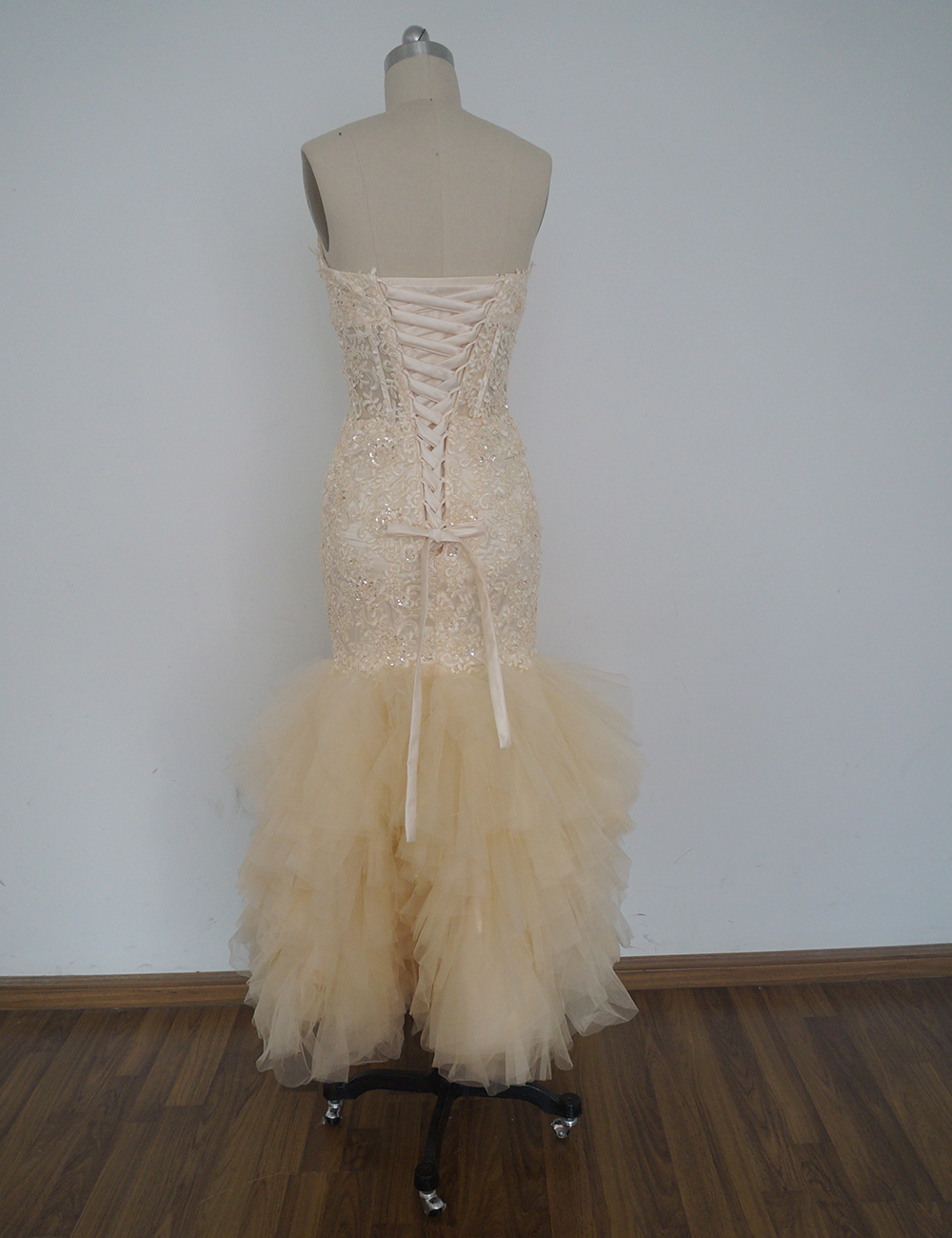 iLoveWedding New Champagne Mermaid Wedding Dresses Appliques Trumpet ...
