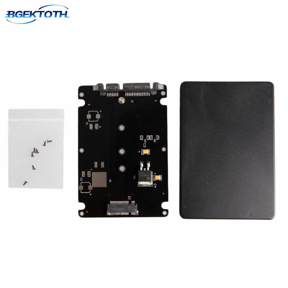 New B+M Key Socket 2 M.2 NGFF (SATA) SSD to 2.5 SATA Adapter Card with Case New Feb5