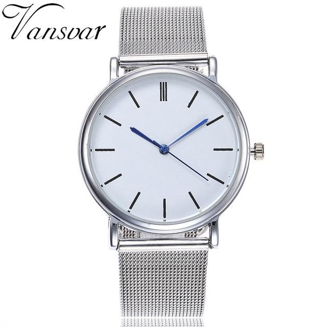 2018 Luxury Brand Quartz Stainless Steel Band Marble Strap Watch Analog Wrist Wa