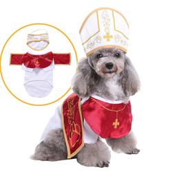 The New Godfather Cosplay Pet Costume for Dog Cat Role Play Dressing Up Party Christmas Halloween Clothes for Dogs