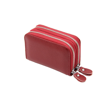 Business Colorful Women's Genuine Leather Wallet Bags and Wallets Hot Promotions New Arrivals Women's Wallets Color: Red Ships From: China
