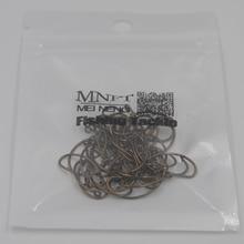 MNFT 50pcs Nymph Bug Fly Tying Hooks Larva Caterpillar Leech Shrimp Flies Bronze Barbed caddis Fly Trout Fly Fishing Hook 8-14#