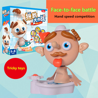 Complex and interesting desktop face to face fighting whole maggot fun games pranks parent child interaction children tricky toy