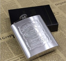 1PC 7oz Stainless Steel Hip Flask With Box Whiskey Alcohol Drinkware Liquor Bottle Wedding Valentine's Day Gift Z546
