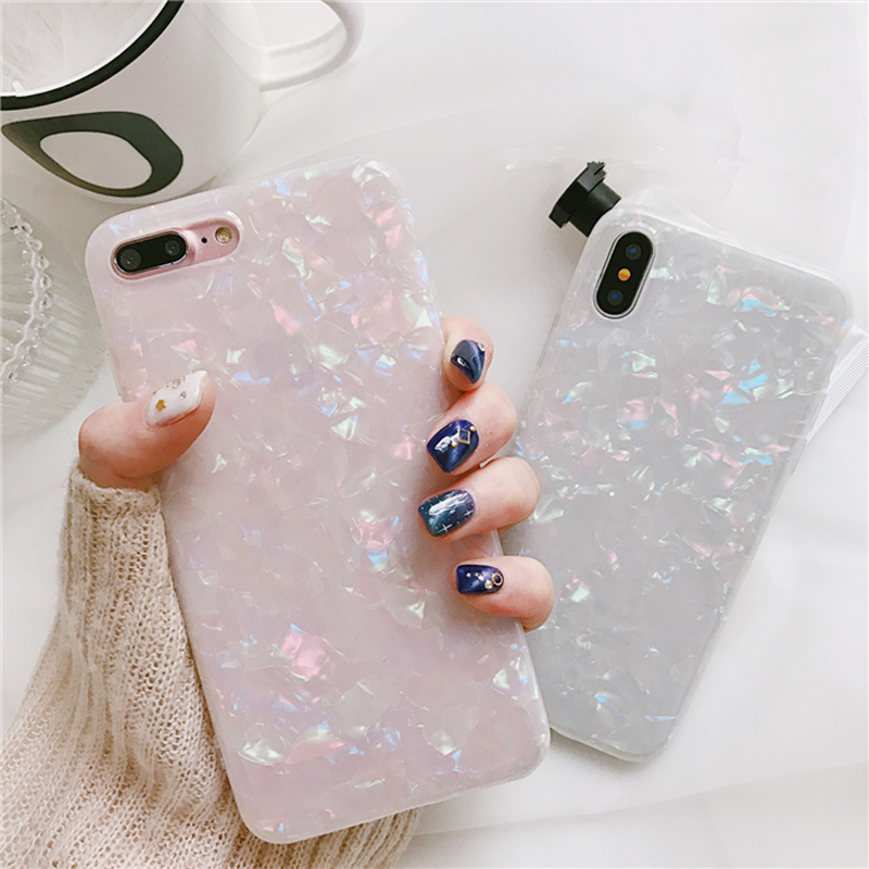 Luxury Glitter Candy Bling Silicone Clear Soft Phone Case For Samsung Galaxy S7 Edge S8 S9 S10 Plus Note 8 9 10 for iphone 8 X 6 image